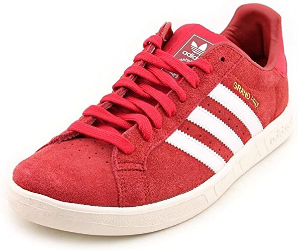 adidas Grand Prix Mens Red Suede Sneakers Shoes Size UK 10: Amazon ...