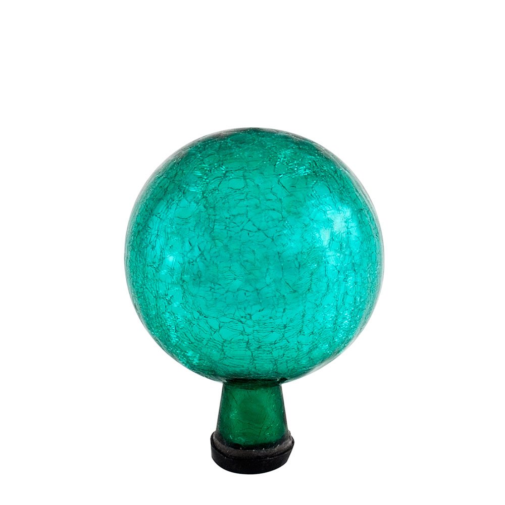 Achla Designs 6-inch Crackle Gazing Globe Ball, Emerald Green