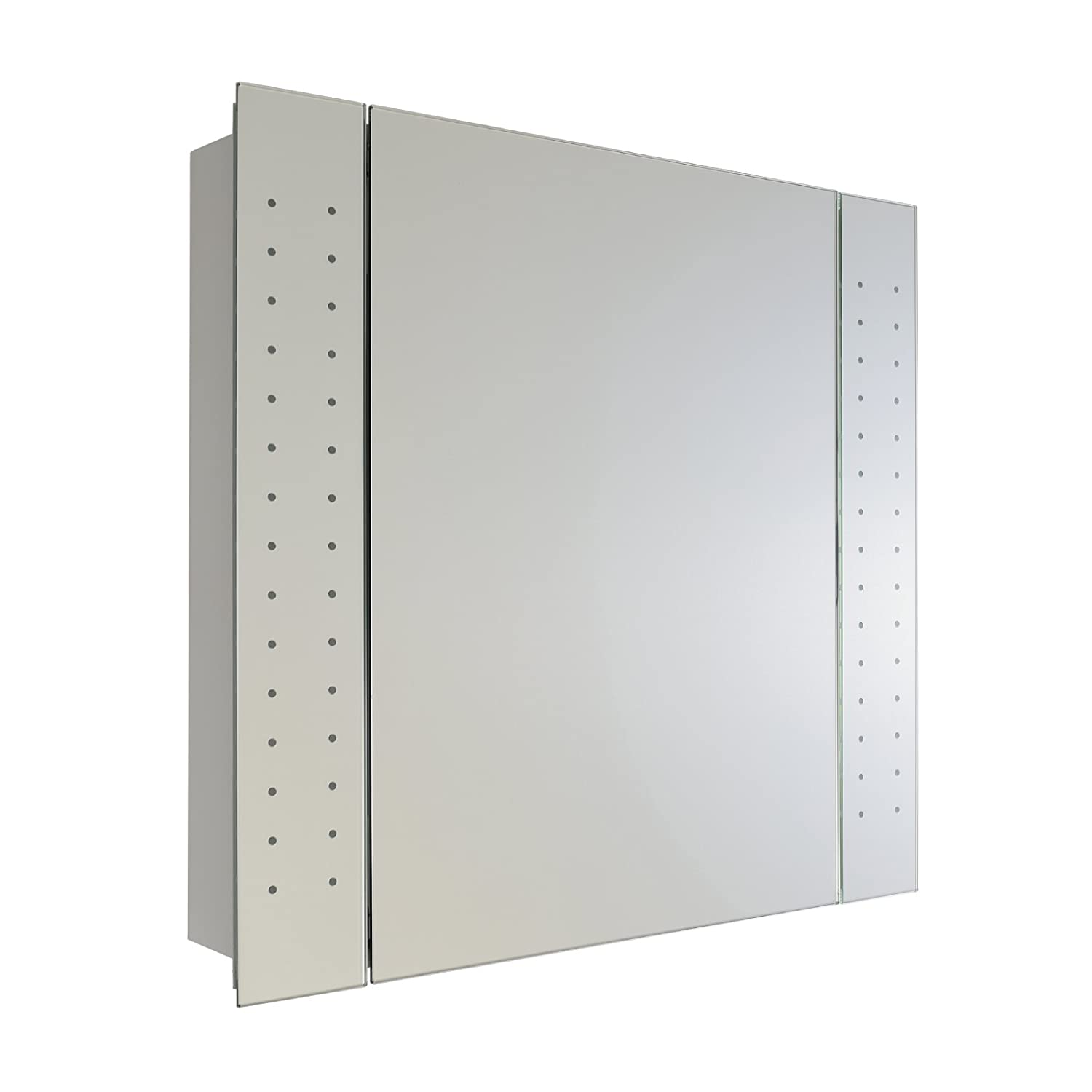 ENKI LED Wall Cabinet with Mirror for Bathroom 640 x 610 mm Galaxy