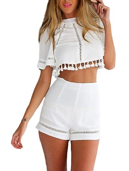 Blusas y shorts de moda