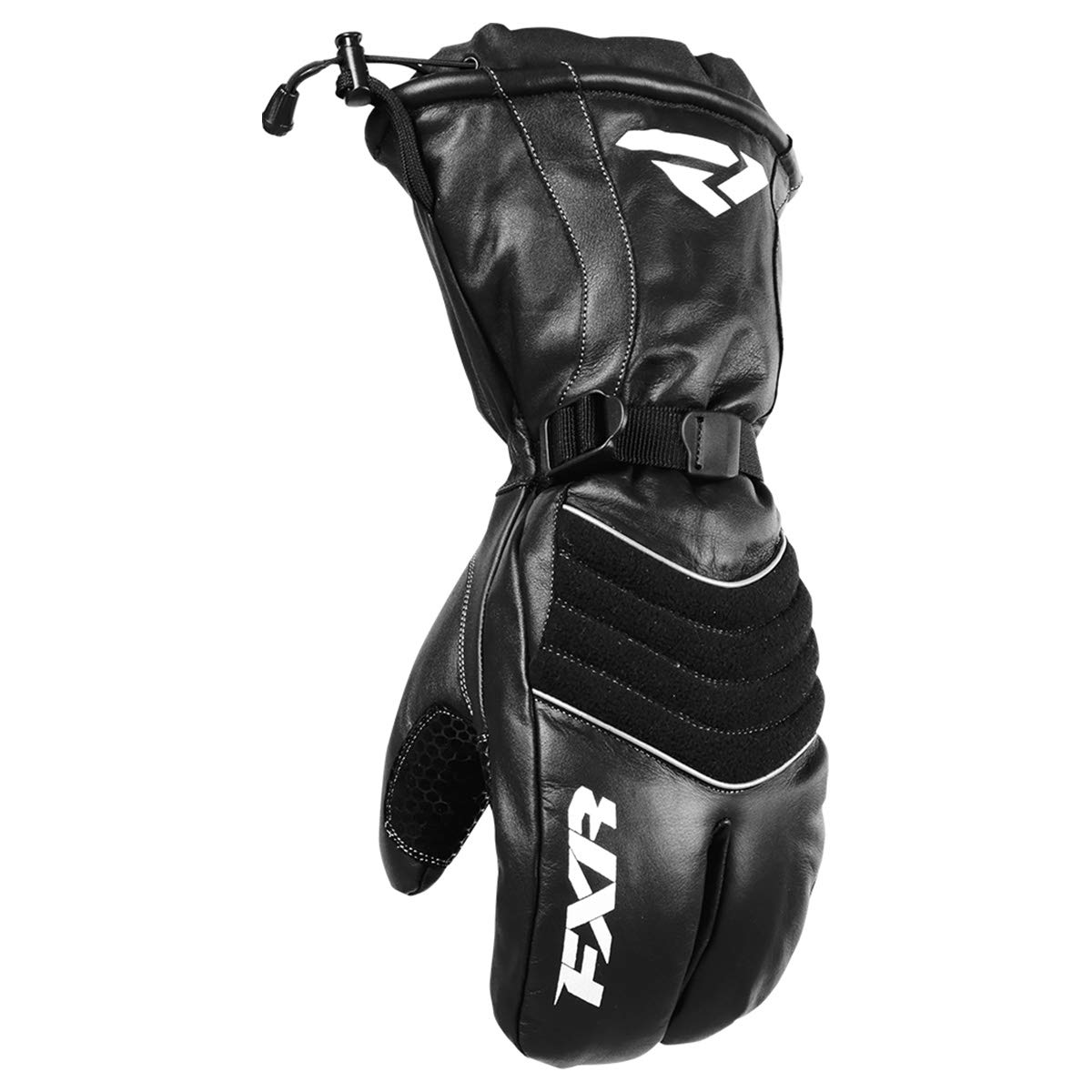 NEW FXR-SNOW LEATHER CLAW ADULT WATERPROOF GLOVES/MITTS, BLACK, 4XL