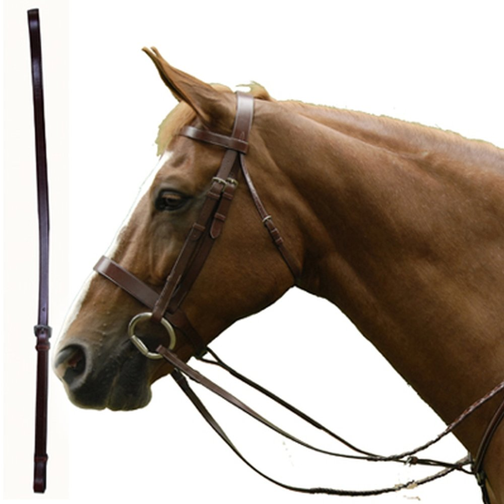 Full Exselle Elite Standing Martingale Plain Flat Leather Attachment
