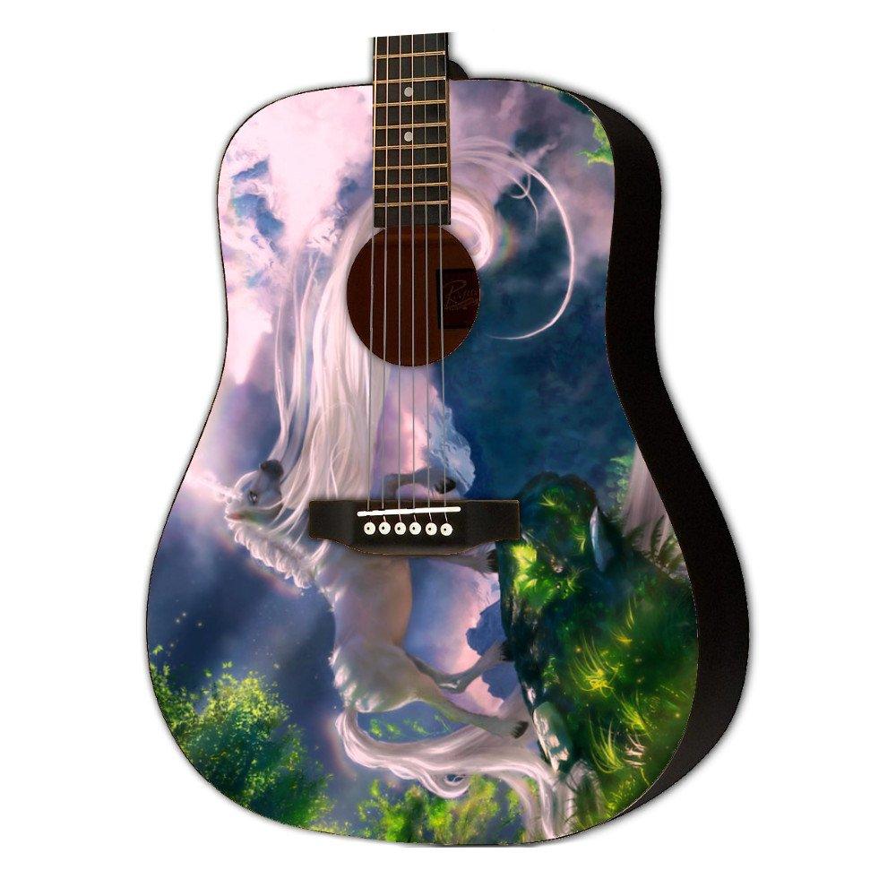 Graphic Acoustic Guitar GIRLROCK FRIEND Design