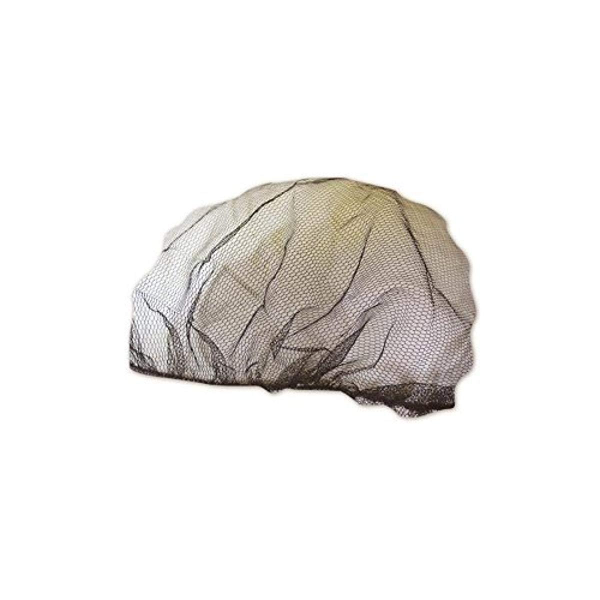 Keystone 109I-REG-DKBROWN Adjustable Cap Co Dark Brown Invisible Denier Hair Net, Blue, 22