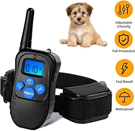 Pet Trainer Electric Shock Ring Work Dogs and Horses Large Dog Electronic Collar Anti Supplies