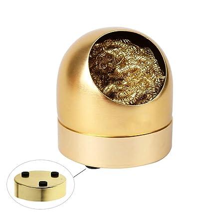 Limpiador de puntas para soldador con soporte antideslizante, bola de alambre de limpieza densa de