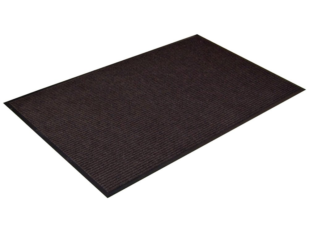 Channel Rib Indoor Commercial Mat, 3' x 4', Charcoal