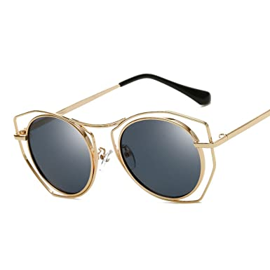 6857b13a67c59 Image Unavailable. Image not available for. Color  Retro Cat Eye Sunglasses  Women Female Wire Frame Anti UV Shades Cateye Mirrored Coating