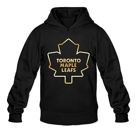 Men's Style Hoodie- Xxl Logo Black Leafs Toronto Maple Gold