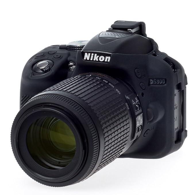 Easycover ECND5300B - Funda de Silicona para Nikon D5300, Color Negro