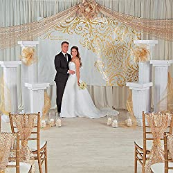 Fun Express Wedding Happily Ever After Backdrop Banner