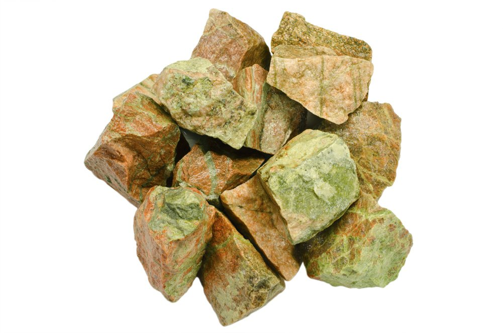 Hypnotic Gems Materials: 18 lbs Unakite Stones from India - Rough Bulk Raw Natural Crystals for Cabbing, Tumbling, Lapidary, Polishing, Wire Wrapping, Wicca & Reiki Crystal Healing