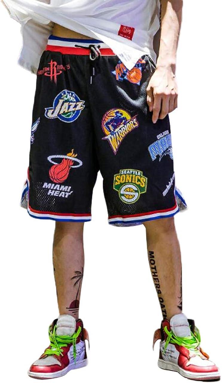 Dise/ño Original Camiseta Deportiva Transpirable en Malla Verano Moda Callejera para Adolescentes y Ni/ños Shorts Secado R/ápido para Correr Trotar Irypulse Pantalones Cortos de Baloncesto Hombres