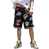 Irypulse Pantalones Cortos de Baloncesto Hombres, Camiseta Deportiva Transpirable en Malla Verano Moda Callejera para…