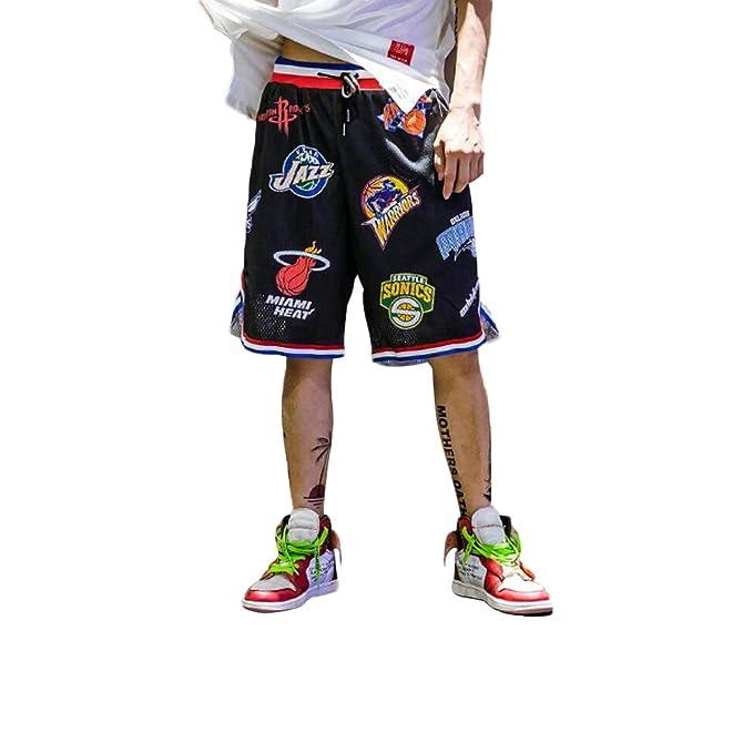 Irypulse Pantalones Cortos de Baloncesto Hombres, Camiseta Deportiva Transpirable en Malla Verano Moda Callejera para Adolescentes y Niños, Shorts ...