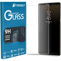 TERSELY Full Coverage Tempered Glass Screen Protector for Samsung Galaxy S8, Film Ultra HD Screen Guard Clear Anti-Scratch [Bubble Free] [Touch Sensitive] [Case Friendly] (Transparent)