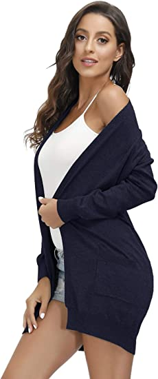 Womens Open Front Cardigan Long Sleeve Sweaters