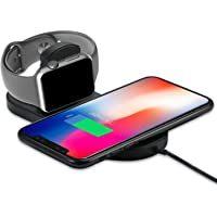 Wireless Charger Compatible for Apple Watch / iPhone, SUCONOR 2 in 1 Qi Ultra-thin Wireless Charger Compatible for iPhone X / XS / XR / XS MAX / 8 / 8 plus , Apple Watch Series 1/2/3/4