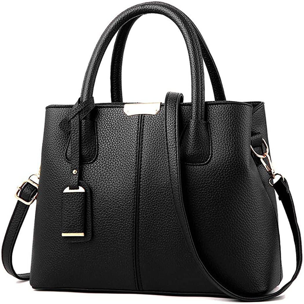 Zippem Women Fashion Soft Zipper Closure Solid Shoulder Bag Handbag Shoulder Bags