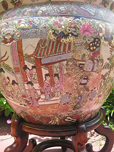 Chinese Famille Rose porcelain fish bowl, Qianlong mark