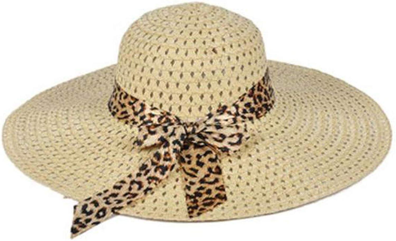 Floppy Panama Hat Women Ladies Summer Big Wide Brim Straw Hat Floppy Derby Beach Sun Foldable Cap