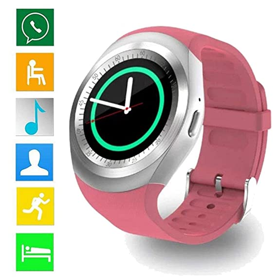 Loveje Smartwatch Touchscreen with Camera Waterproof Dustproof Round Fashion Business Sport, Bluetooth Watch Phone with SIM Card Slot Watch Cell Phone ...