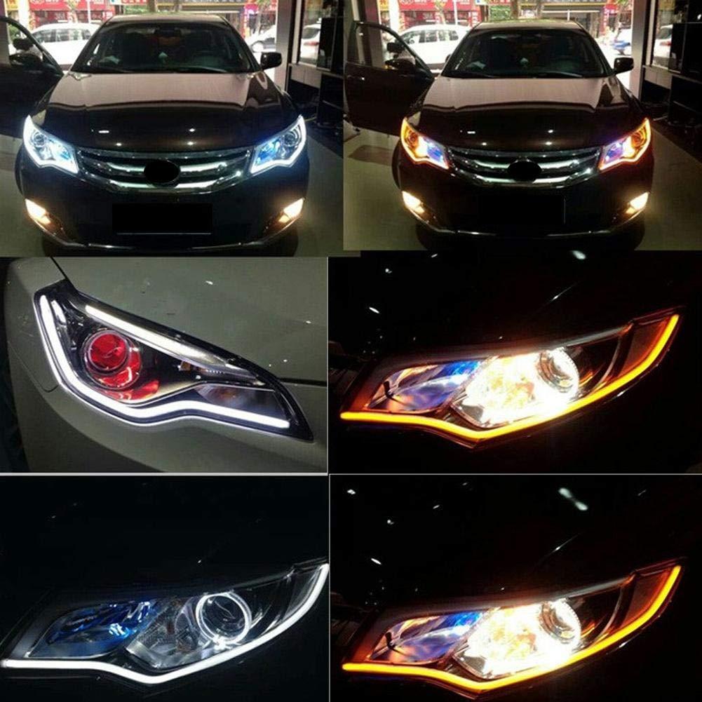 40cm Luz de tira LED universal 12V LED Luces de circulaci/ón diurna Tira de LED Decorativa de faros