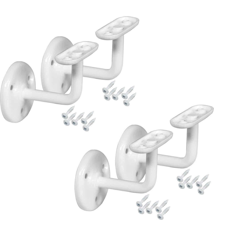 Supports de fixation pour main courante d/'escalier HRB Blanc Lot de 4