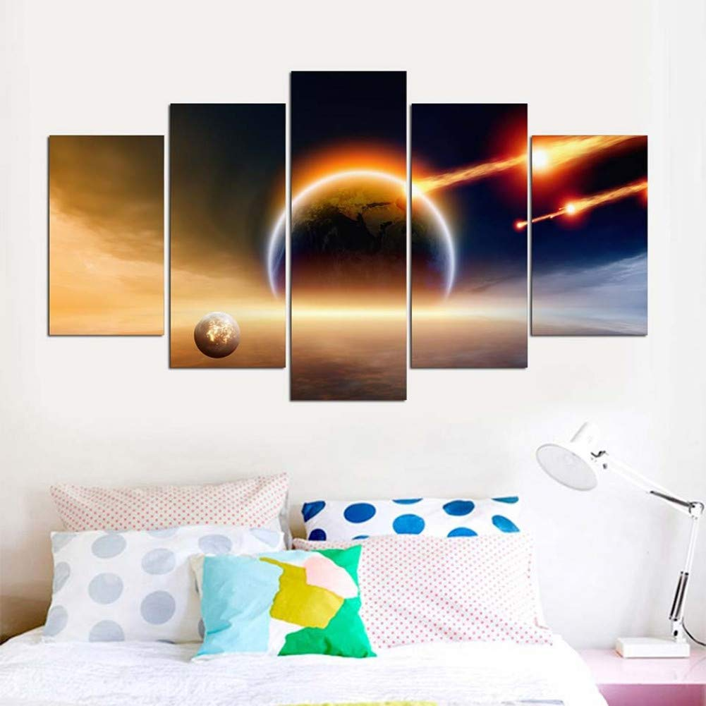 Amazon.com: FBXSLH Modern Bedroom Wall Artwork Canvas Prints ...