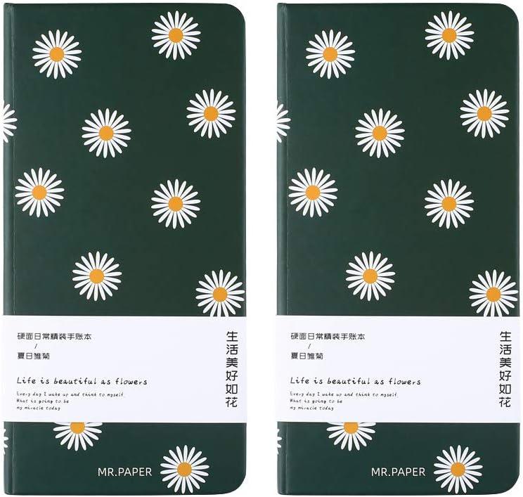 Bloc Note Spirale carreaux Shulaner Cahier petits carreaux spirales A4 80 Feuilles Carnet spirale petits carreaux Couverture de pp avec ceinture /élastique spirale grid notebook Lot de 2