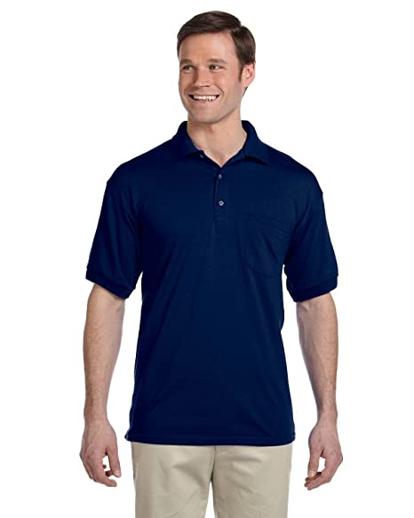2fcb9db789d Sport Shirt with Pocket Jersey Knit 50/50 Blend by Gildan - Navy 8900 3XL  at Amazon Men's Clothing store: Polo Shirts