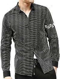 "<span class=""a-offscreen"">[Sponsored]</span>Men's Plaid Striped Casual Button Down Collar Long Sleeve Checkered Cotton Dress Shirts(Black XX-Large)"