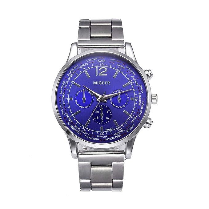 DAYLIN Pareja Relojes Hombre Mujer de Marca Lujo Acero Inoxidable Reloj Pulsera de Cuarzo Analogico Reloj Deportivo Quartz Sport Wrist Watch Regalos ...