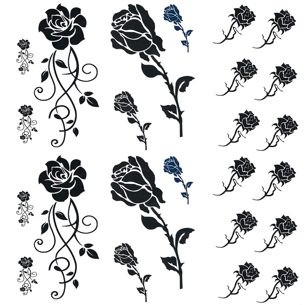 Amazon Com Small Rose Temporary Tattoos For Women 6 Sheet By Yesallwas Fake Flower Temporary Tattoos Sticker For Girl Waterproof Sexy Body Tattoos Small Rose Fake Flower Tattoo Beauty