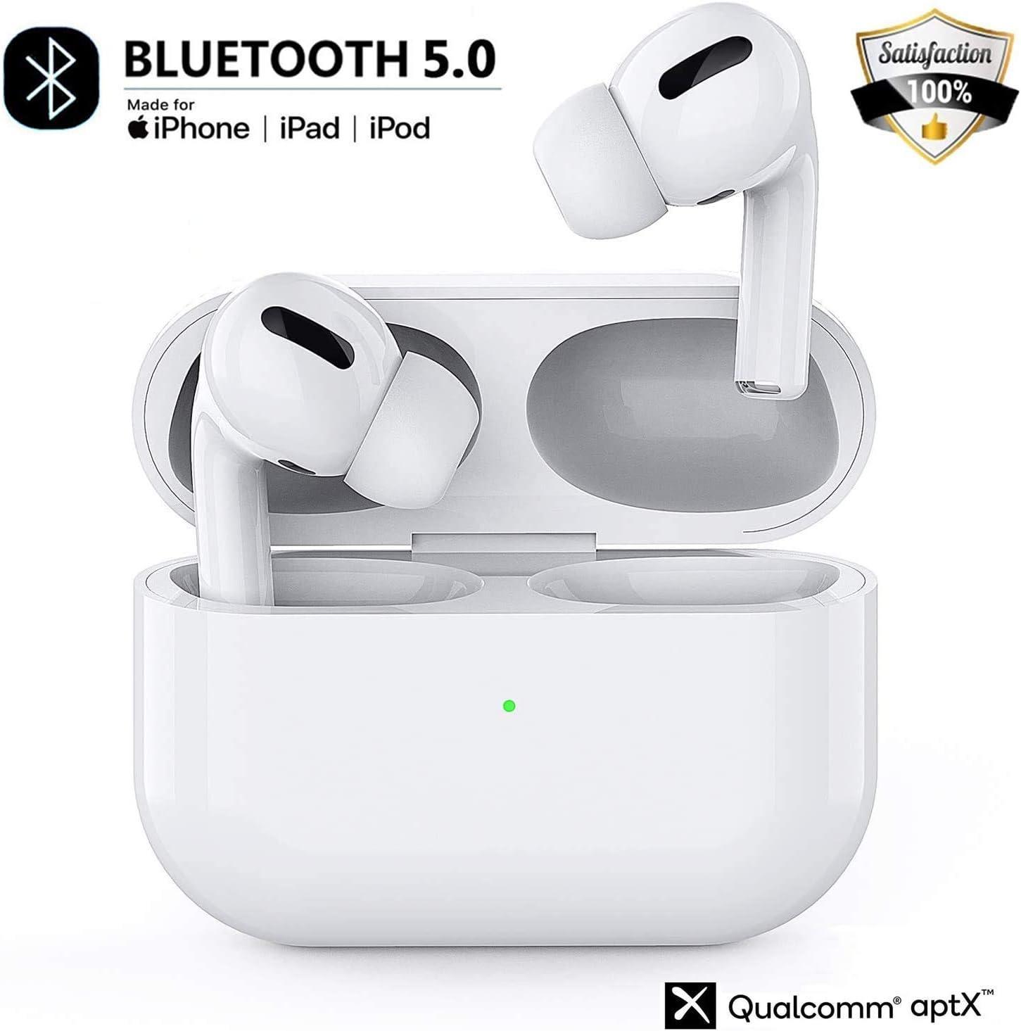 Auriculares Inalámbrico Bluetooth 5.0 Auricular Deportivos In-Ear IPX5 Impermeable Cancelación de Ruido Sonido Estéreo,Micrófono Incorporado con Caja de Carga Rápida,para Android/iPhone/Airpods
