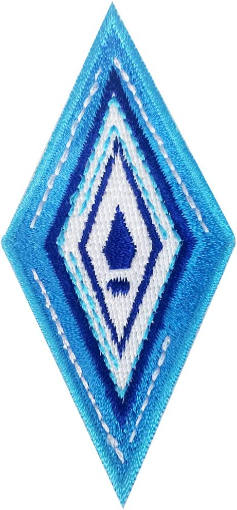Diamond Ice Blue Snowflake Cold Movie Parody - Iron on Embroidered Patch Applique