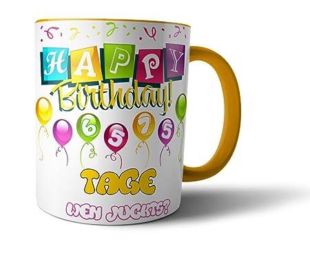 Geschenkedirekt - Taza de cumpleaños con la edad en días ...