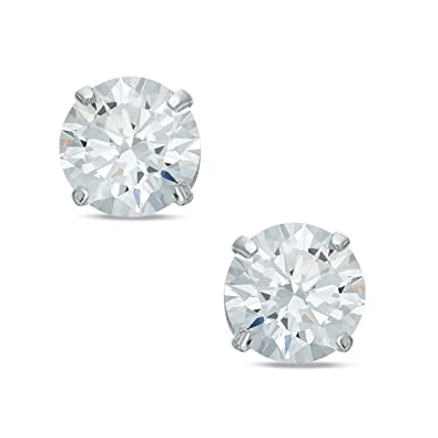 Bling Mens 925 Sterling Silver 5mm Diamond Round Cut Cubic Zirconia (CZ)  Stud Earrings - White   Clear - Beckham Style  Amazon.co.uk  Jewellery 3ffe37df57f4