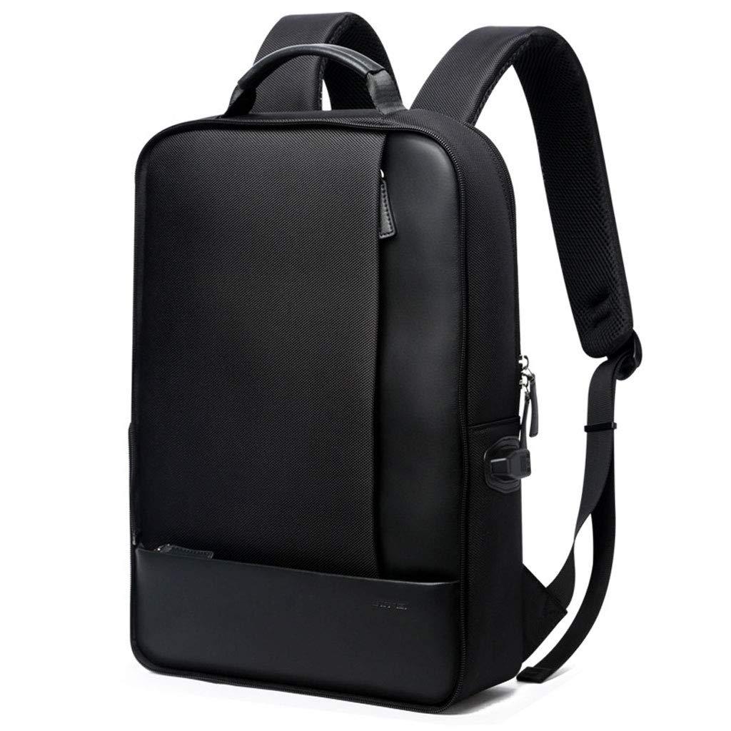 目に見えないケトルポケット付きの15.6インチラップトップビジネスバックパック、盗難防止防爆ジッパー防水トラベルメンズリュックサックブラック (Color : ブラック, Size : 44*30*15cm)   B07RHPF8T7