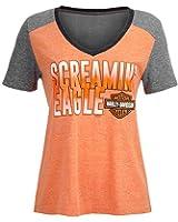Harley-Davidson Women's Screamin' Eagle Ombre Tri-Blend V-Neck Tee HARLLT0217