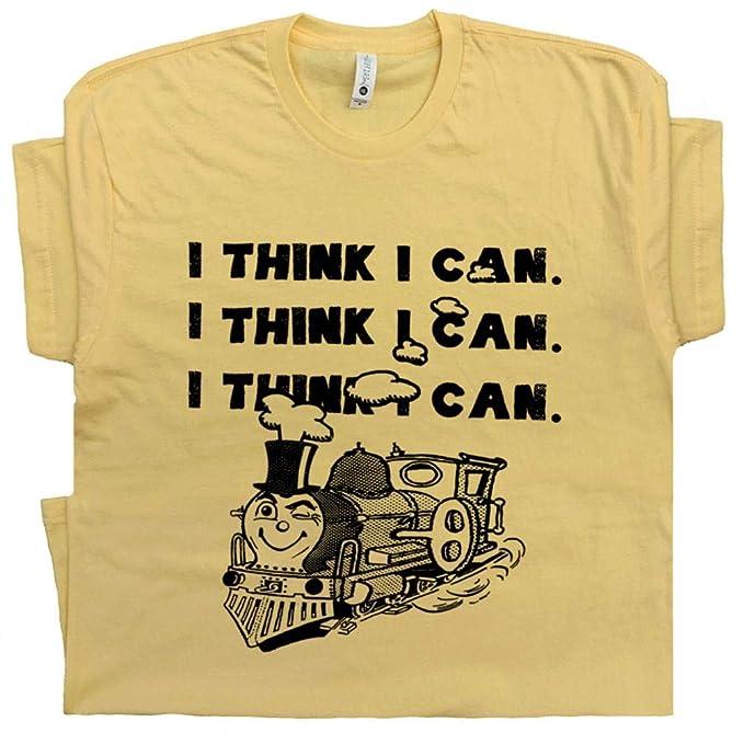 5a4ba5a472a1 S - I Think I Can Train T Shirt Positive Inspirational Quote Shirts Cute  Gym Yoga