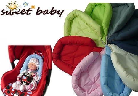 Sweet Baby ** SOFTY ROJO ** Reductor para silla de bebé Maxi Cosi / Römer etc. / Protector de cuerpo para coche (0-6 meses)