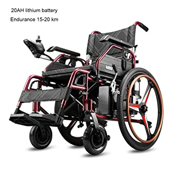 Amazon.com: DSFGHE Silla de ruedas plegable eléctrica ...