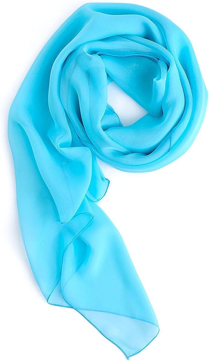 HomRain donna elegante chiffon scialle sciarpa sera Prom stola di colore pianura