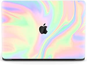Mertak Hard Case Compatible with MacBook Pro 16 Air 13 inch Mac 15 Retina 12 11 2020 2019 2018 2017 Cover Iridescent Foil Print Pastel Plastic Abstract Texture Protective Touch Bar Cute Rainbow
