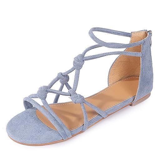 6a1885a9c47fb MOSERIAN Women's Shoes Ladies Summer Casual Big Size Flat Beach ...