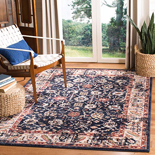 (Safavieh CHL413L-8 Charleston Collection CHL413L Navy and Ivory (8' x 10') Area Rug,)