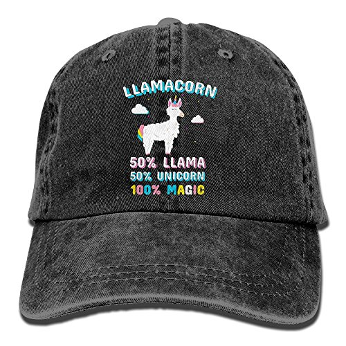 Mkajkkok Llama Unicorn 100% Magic Baseball Cap for Men Women Trucker Style Hat