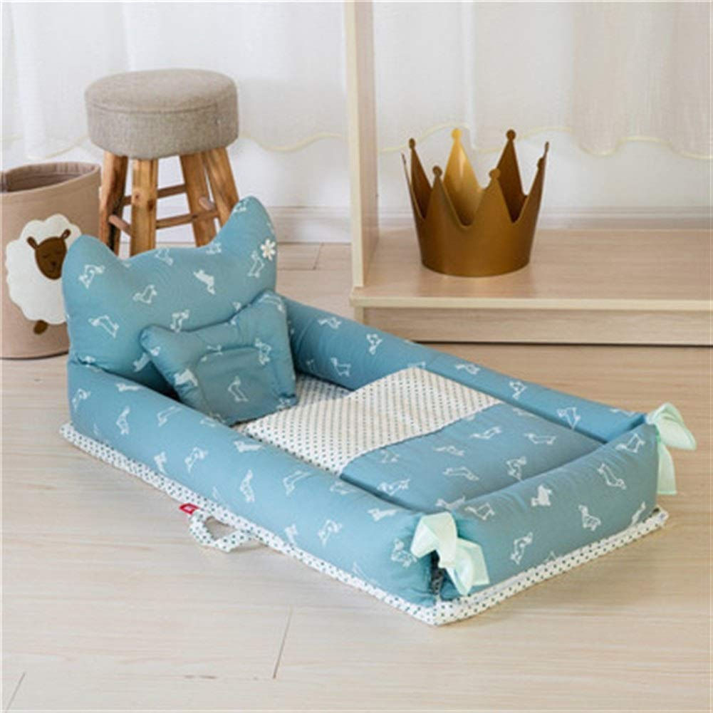ETERLY Neonatal Uterine Mattress Bionic Bed Foldable Travel Bed in 100% Cotton Removable and Washable, Suitable for Baby 0-1 Years (Color : 4) by ETERLY