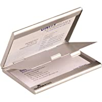Durable Business Card Box - Tarjetero, plateado